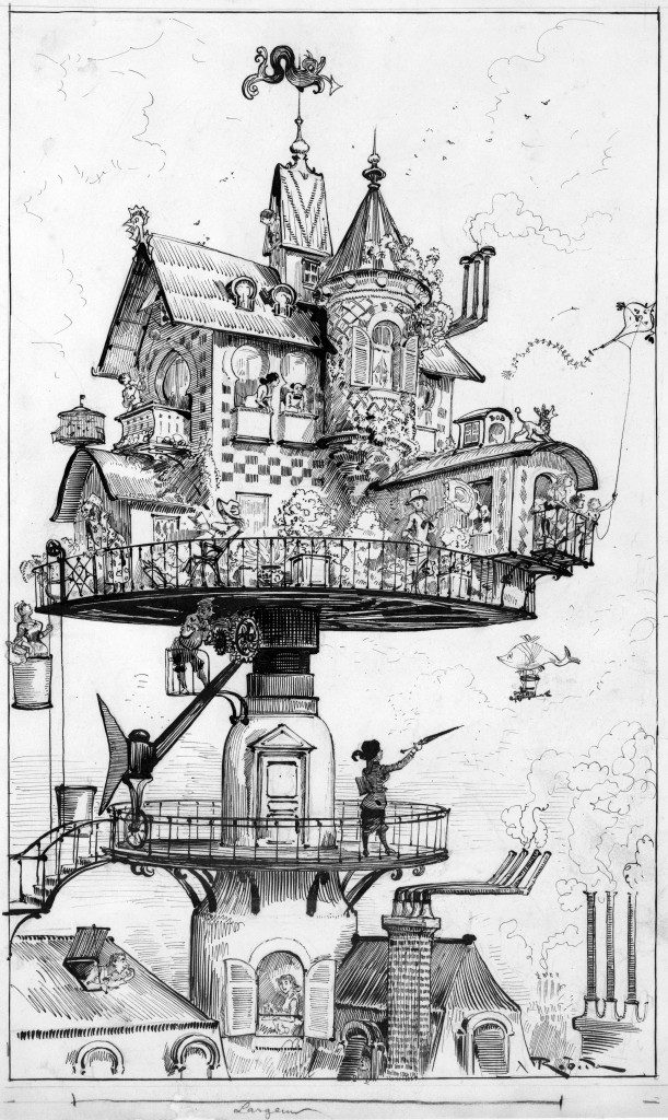 "Maison tournante aérienne"" by Albert Robida"