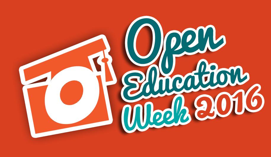 Open Education Week 2016 Logo - Orange BG